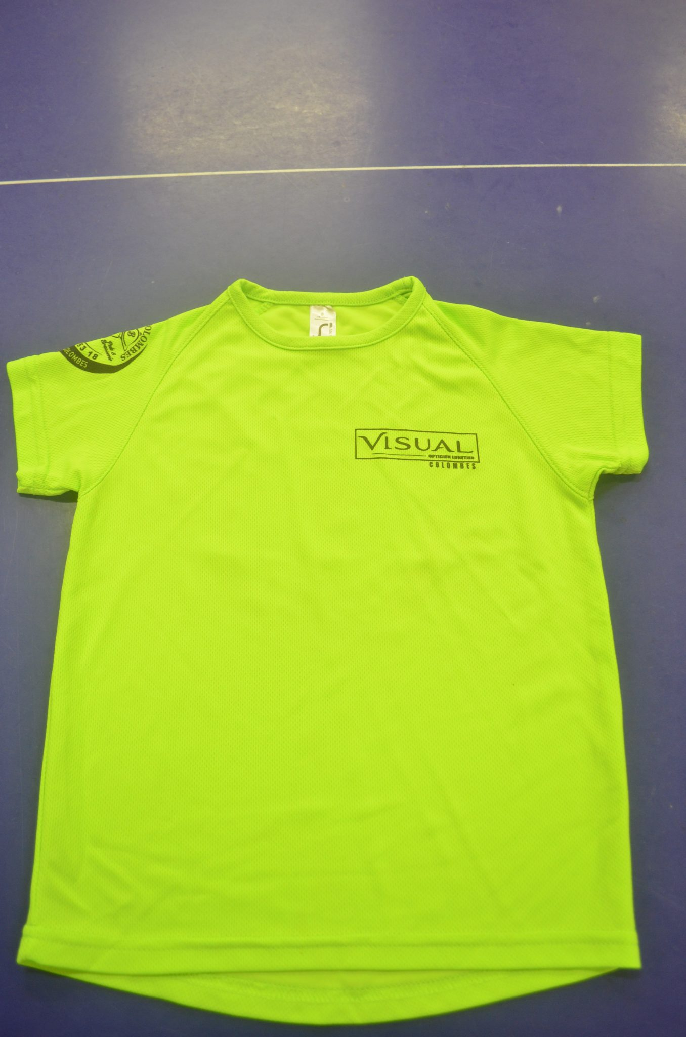 Shirt vert  Bois Colombes Sports Tennis de table ~ Bleu T Bois Colombes